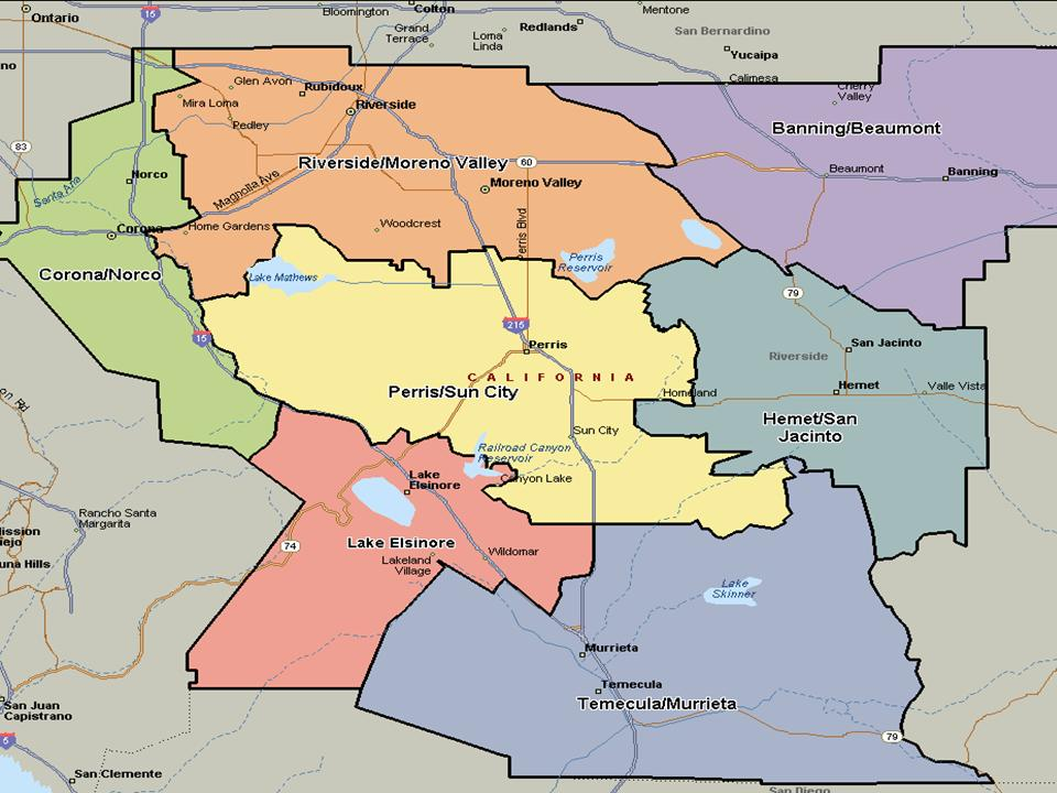 San Bernardino County City Boundary Map